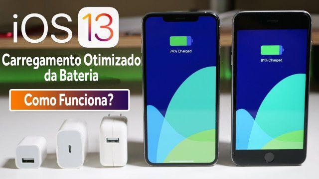 Como funciona o carregamento otimizado no iOS13?